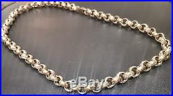 9ct gold belcher chain (110g approx.) 24
