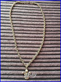 9ct gold belcher chain and pendant hallmarked very heavy 35grams not scrap