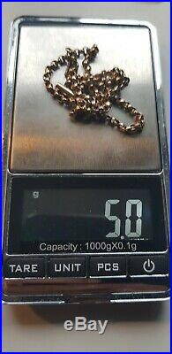 9ct gold belcher chain used 14.5 inch