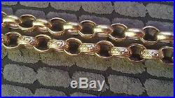 9ct gold belcher heavy 83.7g chain