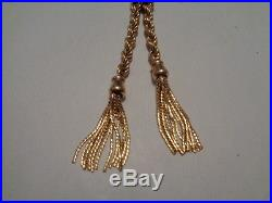 9ct gold bolo tie / rope chain necklace 18 inch long