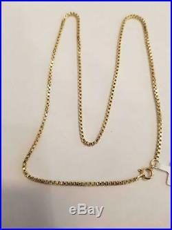 9ct gold box chain