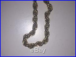 9ct gold chain 8g Twisted Rope design