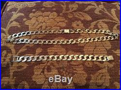 9ct gold chain And Bracelet (heavy Weight) 188g