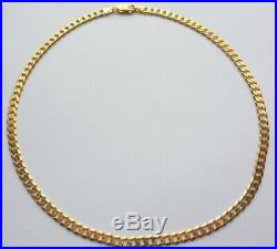 9ct gold chain Solid necklace Mens Womens Fully Hallmarked Heavy 15.75 Grams