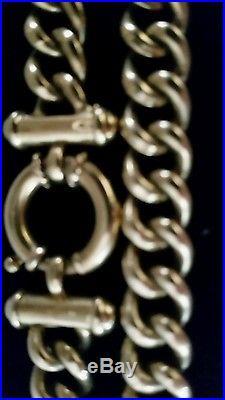 9ct gold chain belcher ring