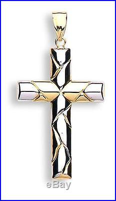 9ct gold cross and chain gents ladies gift boxed