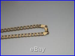 9ct gold curb chain 19.8 grams not scrap