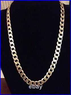 9ct gold curb chain 24 Inch 82.7 Grams Fully Hallmarked