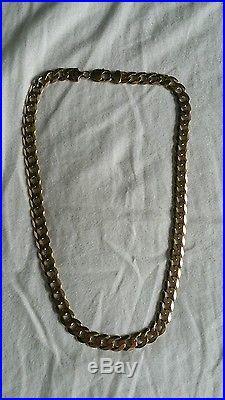 9ct gold curb chain 68g