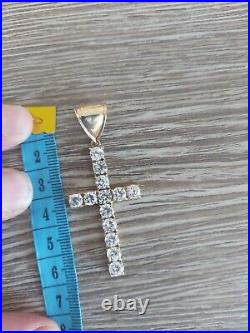 9ct gold curb chain And Crucifix 20 Inches 18g Chain 5g Cross