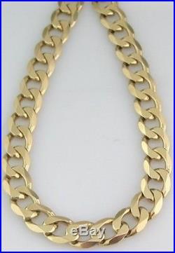 9ct gold curb chain heavy 192g