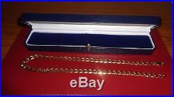 9ct gold diamond cut curb chain