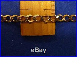 9ct gold flat curb chain 54cm approx 22