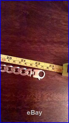 9ct gold heavy curb chain