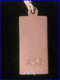 9ct gold ingot bar 8gsm (no chain)