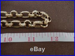 9ct gold large heavy belcher chain very good condition
