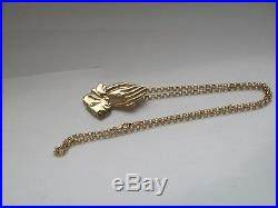 9ct gold large pendant and chain 10 grams not scrap