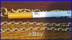 9ct gold oval link belcher chain 38.8g