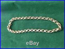 9ct gold plain belcher chain 211g