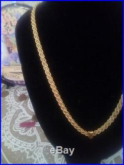 9ct gold rope chain necklace, double strand