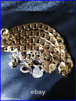 9ct gold scrap or wear 113 grams hallmarked lovely curb chain