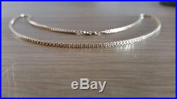 9ct gold solid heavy box link chain necklace