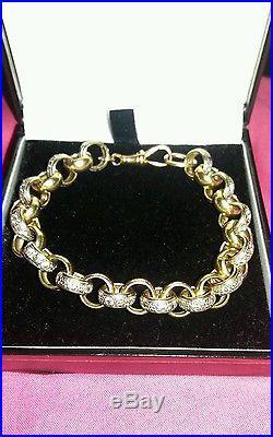 9ct gold zeronic belchers chain and bracelet