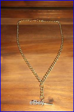 9ct solid gold albert chain