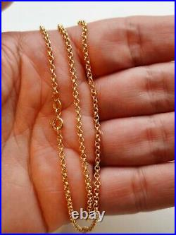 9ct solid gold belcher chain necklace. Hallmarked. New. Boxed. Ideal for pendant
