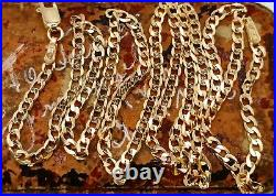 9ct solid gold curb chain necklace 18 inches fully UK hallmarked