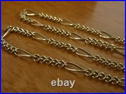 9k 9ct Solid Gold Figaro 31 Necklace. 3.5mm, 52cm 6.58g