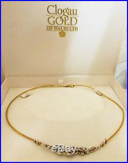 A EARLY CLOGAU 9CT GOLD TREE OF LIFE NECKLACE 17 LONG 8.9g