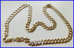 A HEAVY SOLID 9ct GOLD 31.8g 20 INCH CURB CHAIN