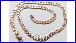 A HEAVY SOLID 9ct GOLD 32.4g 22 INCH CURB CHAIN