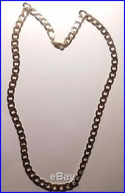 A HEAVY SOLID 9ct GOLD 32.6g 20 INCH CURB CHAIN