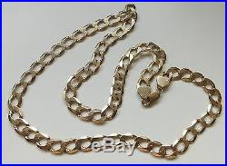 A HEAVY SOLID 9ct GOLD 54.5g 24 INCH CURB CHAIN