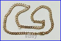 A SOLID 9ct GOLD 33.8g 21 INCH CURB CHAIN