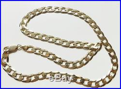 A SOLID 9ct GOLD 33.9g 20 INCH CURB CHAIN