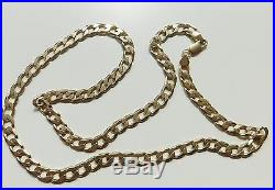 A SOLID 9ct GOLD 37.5g 24 INCH CURB CHAIN