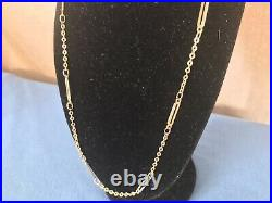A Stunning Unusual Chain 9ct 375 Solid Gold Figaro Necklace 15 Inch Not Scrap