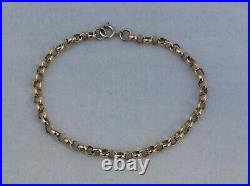 A VINTAGE SOLID 9ct GOLD ROLO LINK BRACELET IN VERY GOOD CONDITION