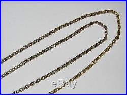 ANTIQUE 29 inch VICTORIAN 9ct GOLD NECKLACE CHAIN LONG GUARD TYPE CHAIN 11.1g