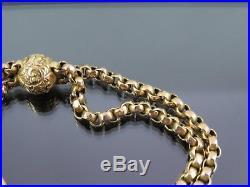 ANTIQUE 9ct GOLD ALBERTINA WATCH CHAIN BRACELET C. 1900