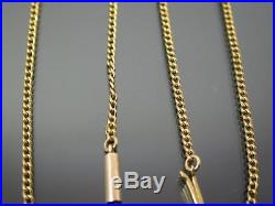 ANTIQUE 9ct GOLD CHAIN NECKLACE Curb Link 17 inch C. 1880