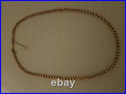 ANTIQUE 9ct GOLD CURVED LINK BOX / BELCHER CHAIN