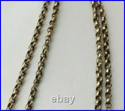 ANTIQUE VICTORIAN 375 9CT GOLD BELCHER LINK CHAIN NECKLACE 21 inches 5.55g