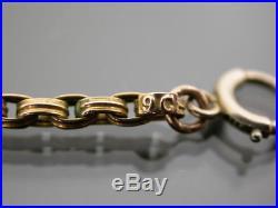 ANTIQUE VICTORIAN 9ct GOLD TRIPLE BELCHER LINK NECKLACE CHAIN C. 1880 17 inch