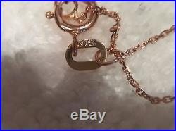 ANTIQUE VINTAGE VICTORIAN HORN FOB CHARM PENDANT-9ct ROSE GOLD-9ct R/GOLD CHAIN