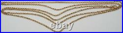 Antique 60 inch long 9ct rose gold muff guard chain necklace Weighs 36 grams